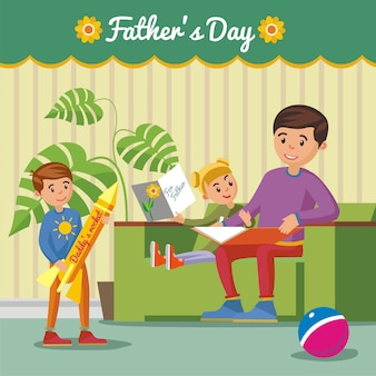 Groet happy fathers day concept