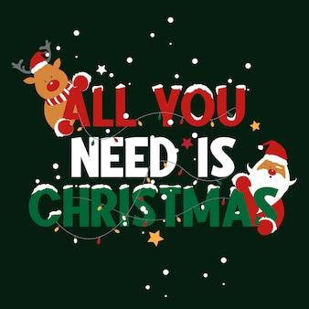 Groet met kerstthema