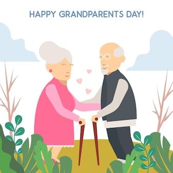 Groet van de dag van de grootouders