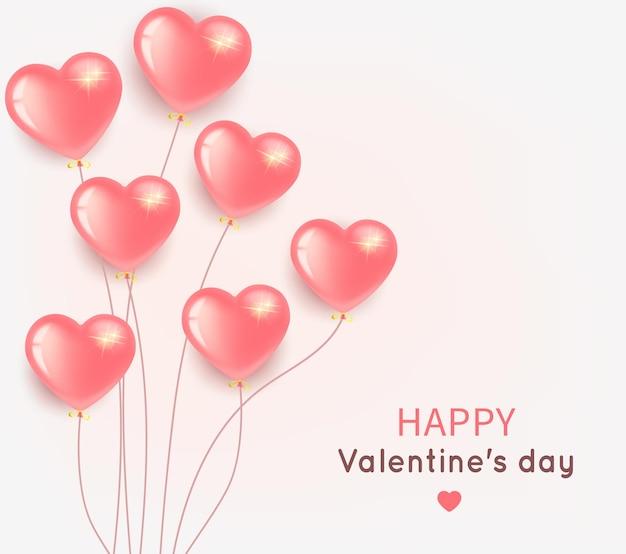 Groet voor valentijnsdag met ballon