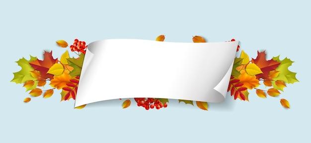 Groeten en cadeaus voor het herfst- en herfstseizoenconcept.