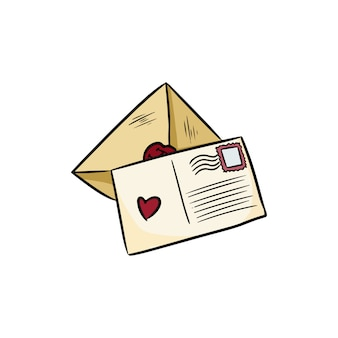 Groeten liefdesbrieven doodles