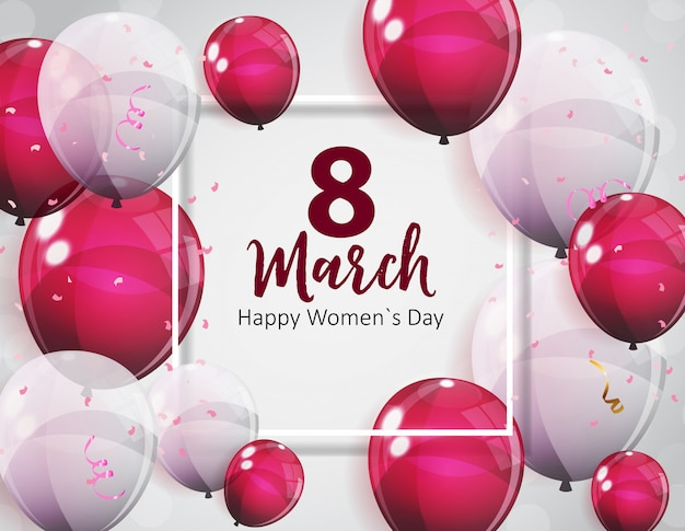 Groetenkaart voor damesdag 8 maart
