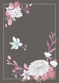 Groetkaart met bloementhema