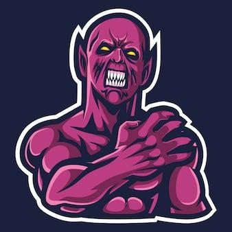 Grommelde demon esport logo afbeelding