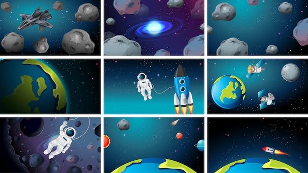 Groot aantal ruimtescènes
