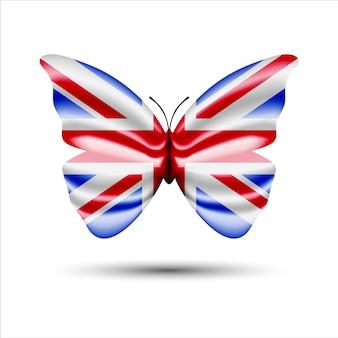 Groot-brittannië vlag vlinder