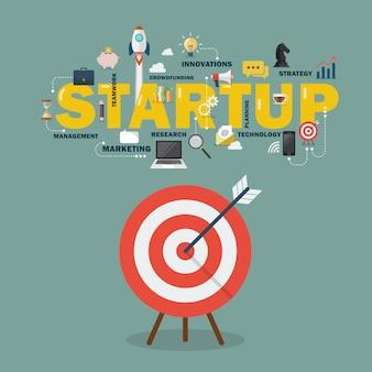 Groot doel startup concept