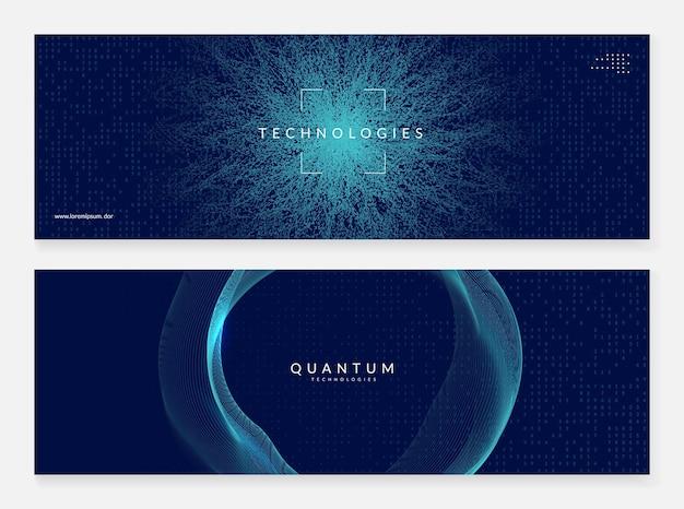 Groot gegevensconcept. digitale technologie abstracte achtergrond. kunstmatige intelligentie en diep leren. tech visual voor databasesjabloon. partical big data concept achtergrond.