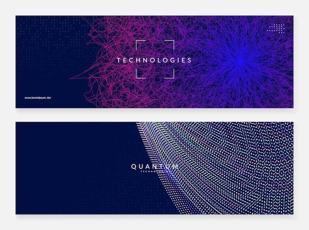Groot gegevensconcept. digitale technologie abstracte achtergrond. kunstmatige intelligentie en diep leren. tech visual voor serversjabloon. fractal big data concept achtergrond.
