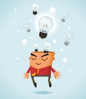 Groot idee brainstormen