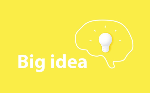 Groot idee concept creativiteit en brainstormen