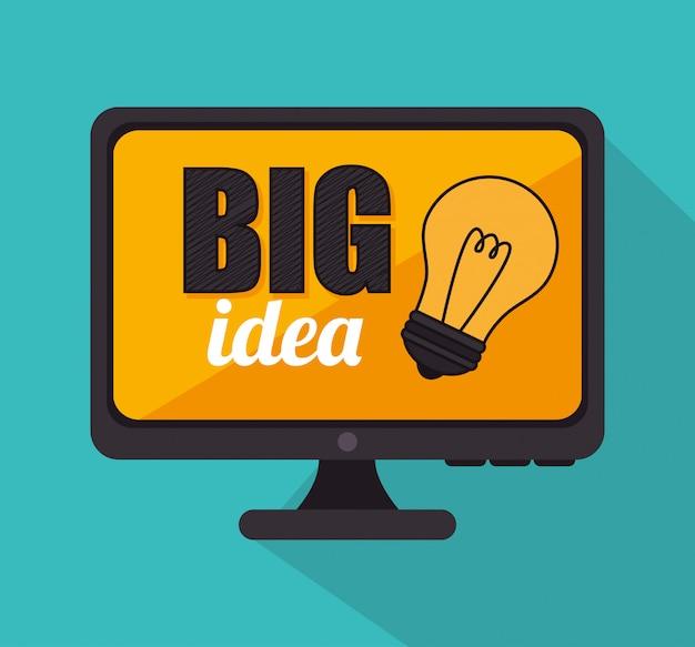 Groot idee, creatief en intelligentie