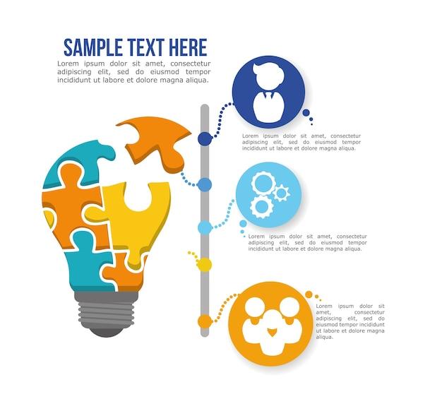 Groot idee infographic ontwerp