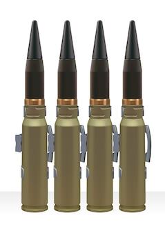 Groot kaliber munitie voor automatisch krachtpistool.