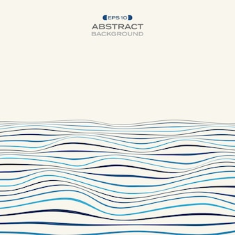 Groot kleurniveau van het golvende patroon van de blauwe streeplijn