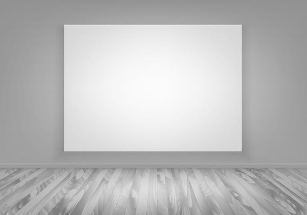 Groot leeg canvas op een muur
