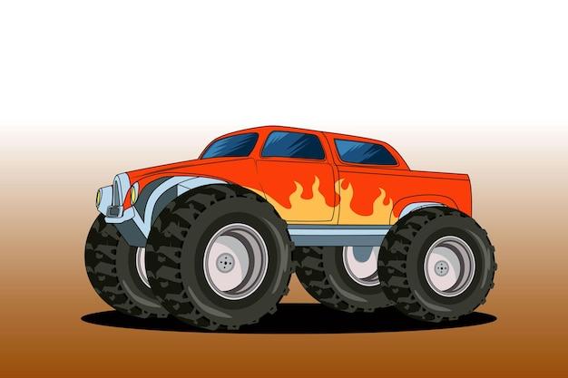 Groot monster offroad Premium Vector