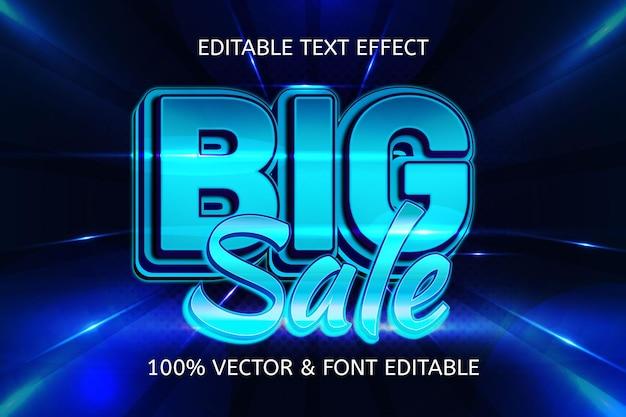 Groot neon bewerkbaar teksteffect in verkoopstijl