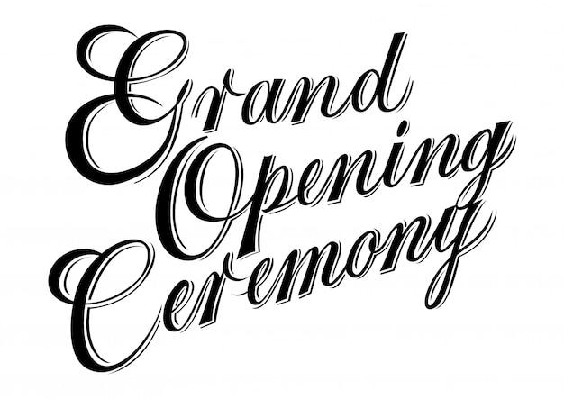 Groot openingsceremonie van letters voorzien.