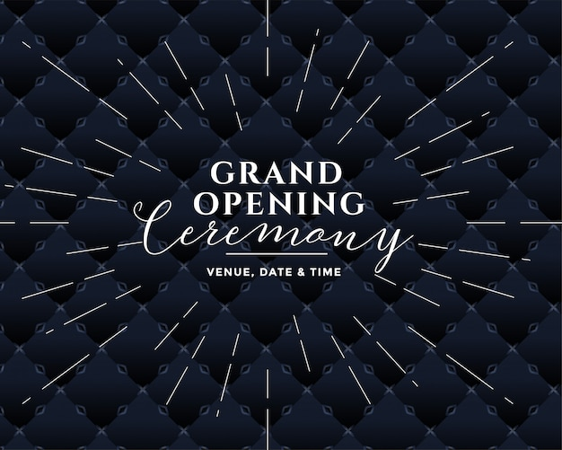 Groot openingsceremonie zwart ontwerp