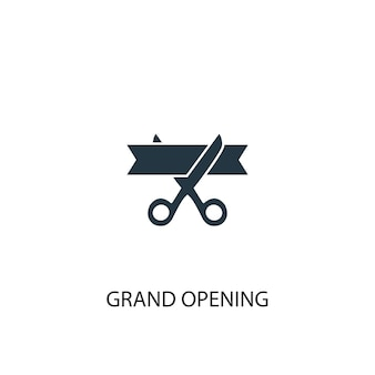 Groot openingspictogram. eenvoudige elementenillustratie. grootse opening symbool conceptontwerp. kan gebruikt worden voor web en mobiel.