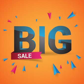 Groot verkoop 3d ontwerp, vierkante banner
