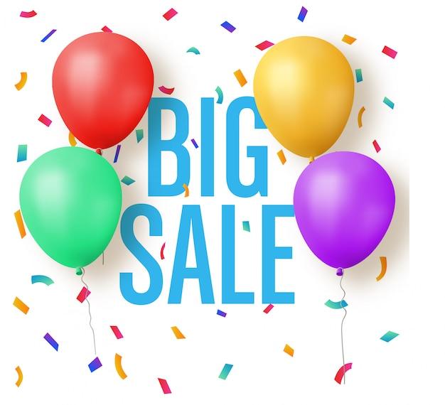 Groot verkoopontwerp met ballonnen