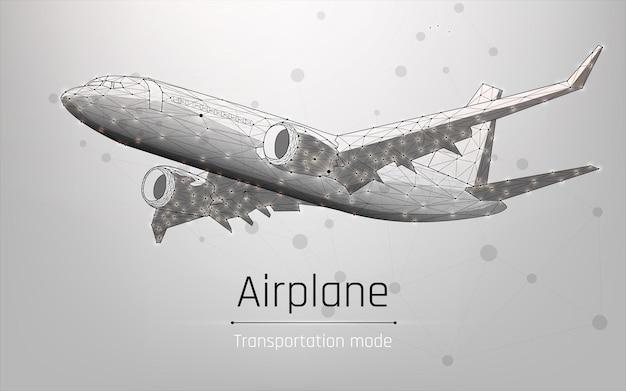 Groot vliegtuig vervoer van goederen en passagiers