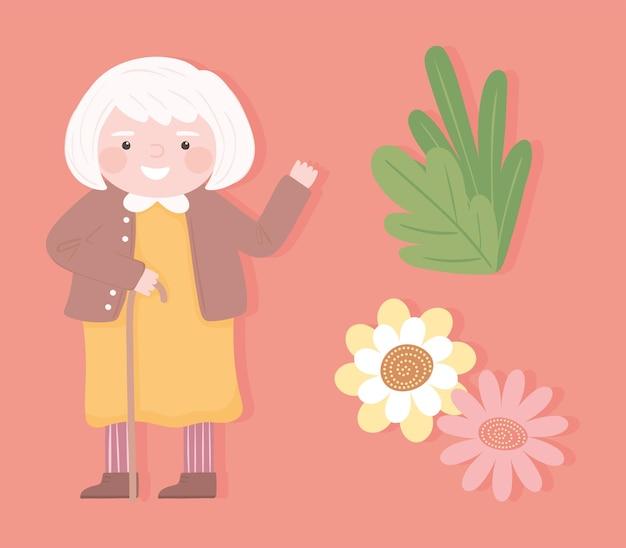 Grootman met bloemen set