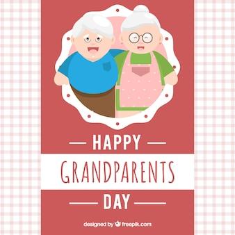 Grootouders dag begroeting achtergrond