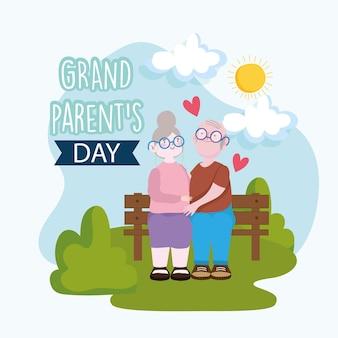 Grootouders dag karakters