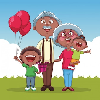 Grootouders en kinderen
