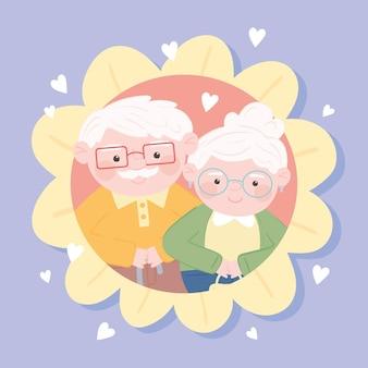 Grootouders schattige karakters