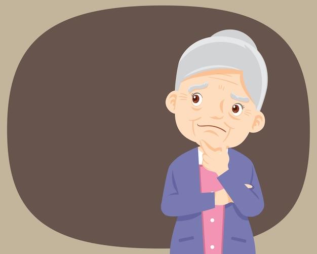 Grootouders staan en denken