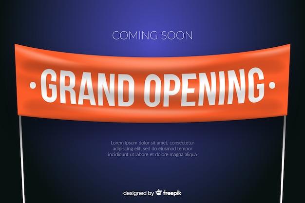 Grootse opening banner in realistische stijl