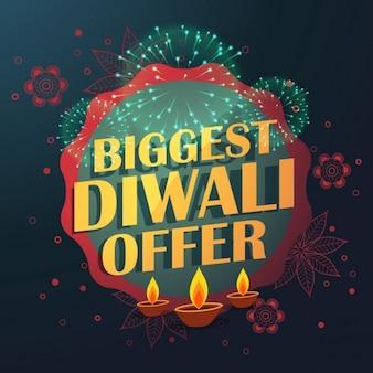 Grootste diwali verkoop aanbod met mooie decoratie en diya