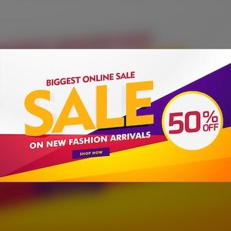 Grootste online verkoop poster banner template design