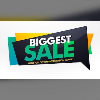 Grootste verkoop banner poster sjabloon met korting aanbieden