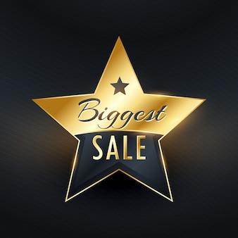 Grootste verkoop ster etiket badge ontwerp vector