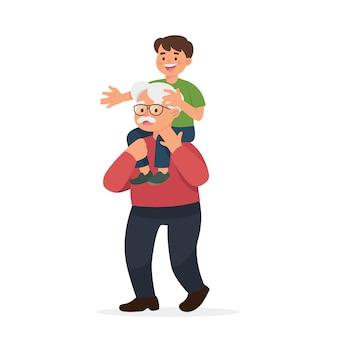 Grootvader en kleinzoon