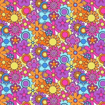 Groovy bloemenpatroon