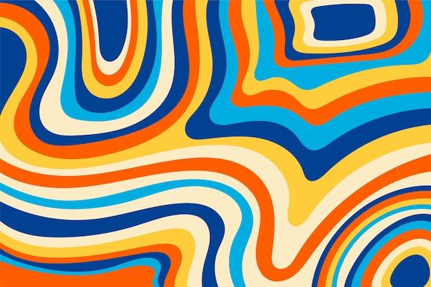 Groovy kleurrijke achtergrond