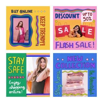 Groovy verkoop instagram-berichten