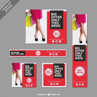 Grote aanbod banners set