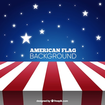 Grote achtergrond met amerikaanse vlag en glanzende sterren