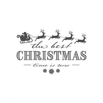 Grote achtergrond met de kerstman en rendieren