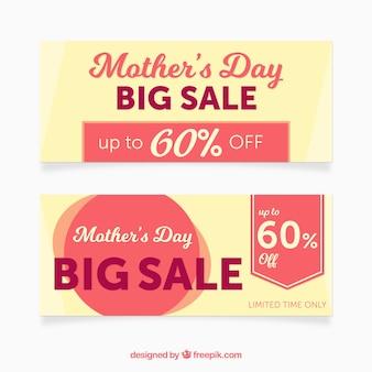 Grote banners met aanbiedingen voor moederdag