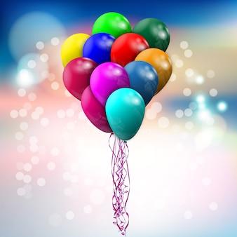 Grote bundel gekleurde ballonnen