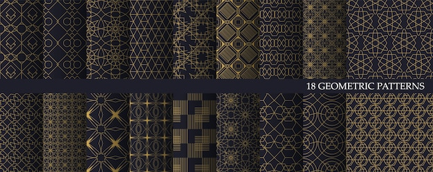 Grote collectie luxe geometrische